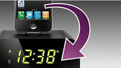 داک شارژر، اسپیکر و ساعت و گوشی فیلیپس مدل AD713/12