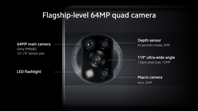 گوشی شیائومی Poco X3 NFC ظرفیت 128 گیگابایت