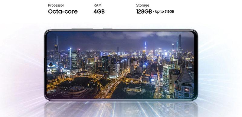 صفحه نمایش گوشی سامسونگ گلکسی A51 ظرفیت 128 گیگابایت