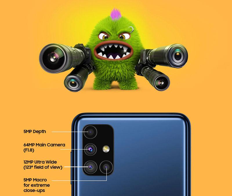 دوربین گوشی سامسونگ گلکسی M51 ظرفیت 128 گیگابایت