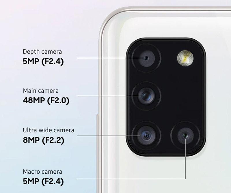دوربین گوشی سامسونگ گلکسی A31 ظرفیت 128 گیگابایت